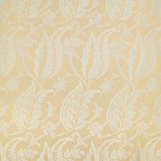 Contemporary Suzanne Tucker Home Jacqueline Linen Blend Jacquard in Straw For Sale - Image 3 of 3