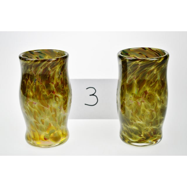 Hand-Blown Art Glass Vessels - A Pair - Image 3 of 11