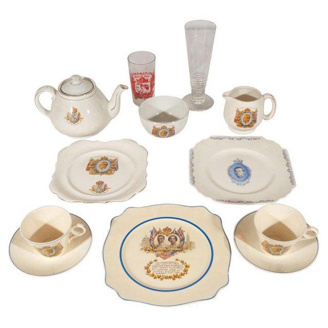 English Art Deco Royal Commemorative Porcelain Coronation Set For Sale - Image 13 of 13