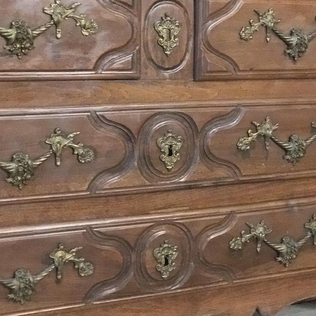 19th Century French Louis XIV Walnut Commode For Sale - Image 11 of 13