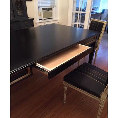 Black Custom Partner Desk For Sale In Chicago - Image 6 of 9