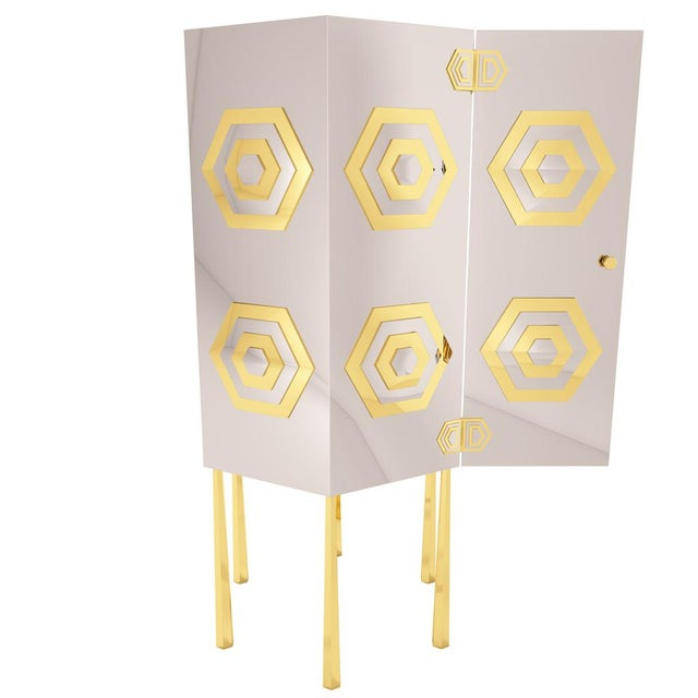 Hex Cabinet by Artist Troy Smith - Contemporary Modern Design - Handmade Furniture - Very Limited Edition For Sale - Image 6 of 11