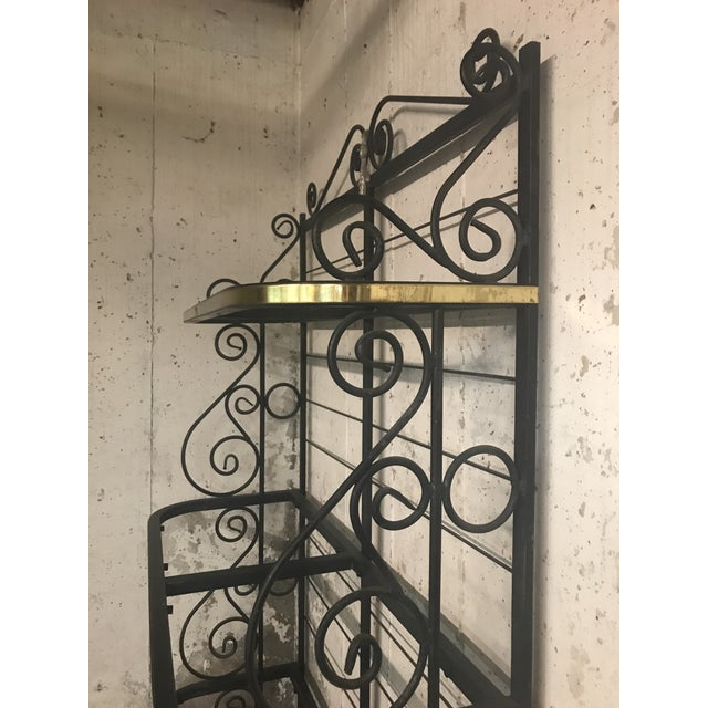 Contemporary 20th Century Contemporary Iron Bakers Rack For Sale - Image 3 of 5