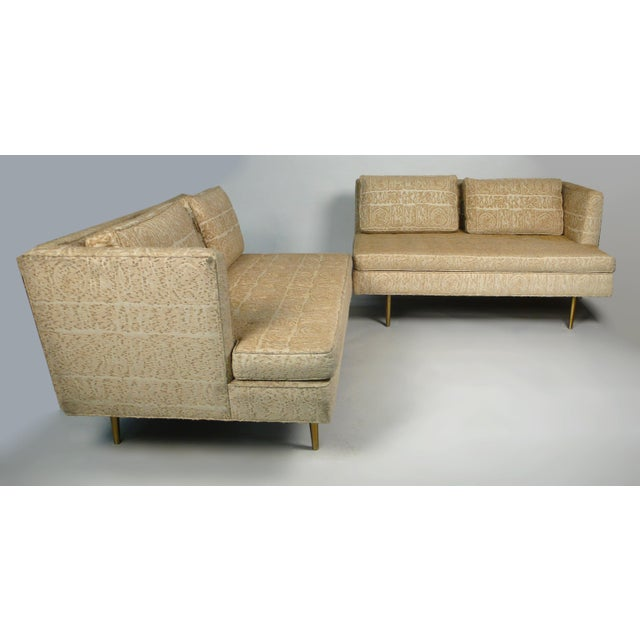 Brass Edward Wormley for Dunbar Even Arm Sofa or Settees For Sale - Image 7 of 8