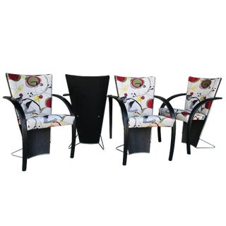 Designer Norwegian 80s Modern Dining or Game Chairs Made by Westnofa - Set of 4 For Sale