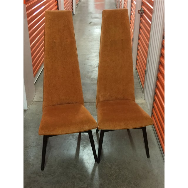 Adrian Pearsall High Back Chairs - Pair - Image 3 of 3