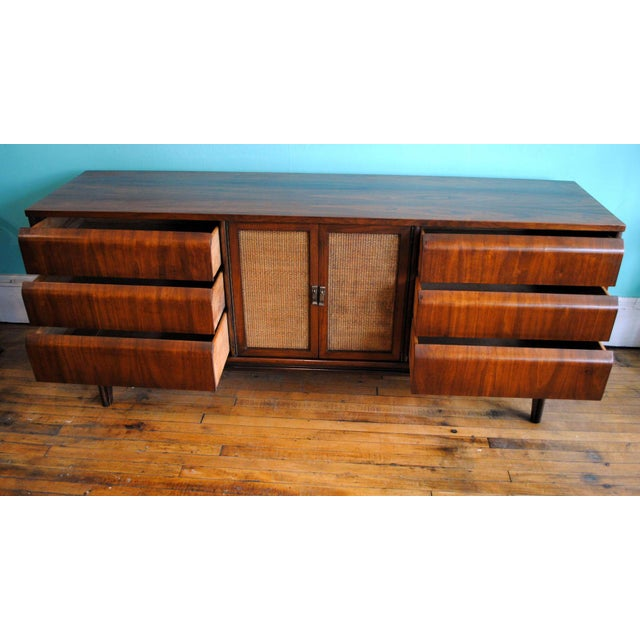 Mid Century Modern Walnut 9 Drawer Dresser - Image 6 of 10