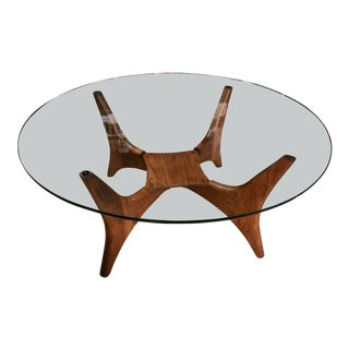 Adrian Pearsall Sculptural Walnut and Glass Planter Coffee Table for Craft Associates For Sale