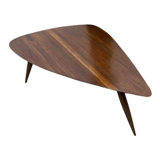 1960s Mid Century Walnut Cocktail Table For Sale