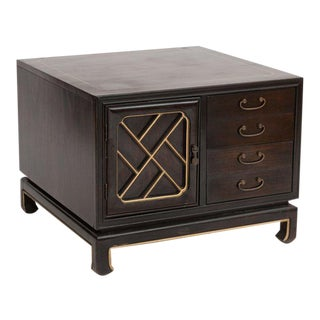 American of Martinsville Chinoiserie Cabinet
