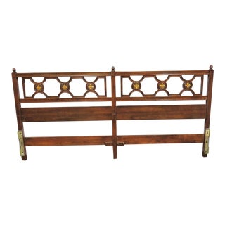 20th Century Italian Kindel Kingsize Headboard For Sale