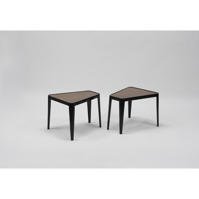Mahogany Pair of Wedge Tables by Edward Wormley for Dunbar For Sale - Image 7 of 10
