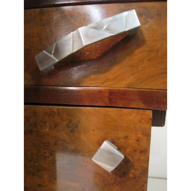Early 20th Century French Art Deco Writing Vanity Desk For Sale - Image 12 of 13