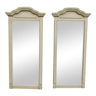 French Painted Pair of Wall Mirrors For Sale