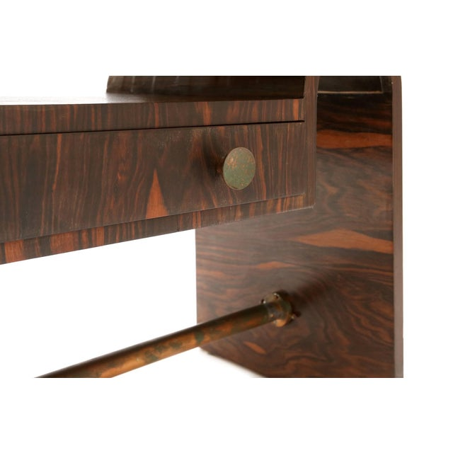 1930s Modernist macassar Art Deco coffee table for Metz & Co For Sale - Image 5 of 7