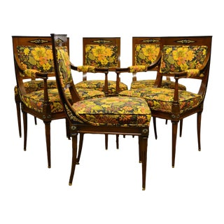 French Regency Rosewood Dining Chairs - Set of 6 For Sale