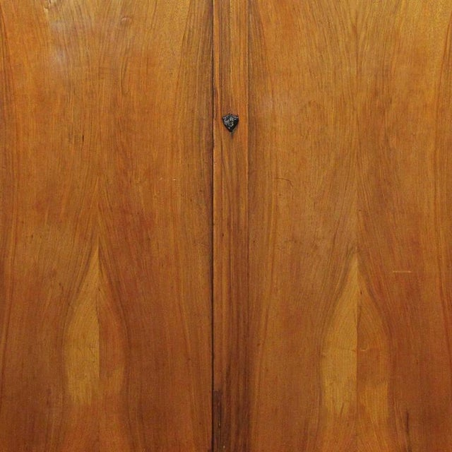 Period Biedermeier Cherry and Ebonized Armoire For Sale - Image 4 of 6
