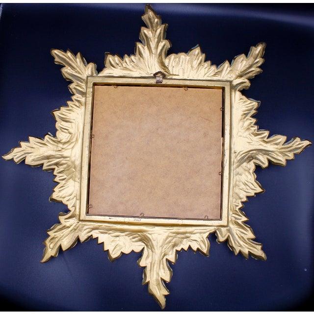 Gold Mid-Century Gold Gilded Italian Sunburst Wall Mirror For Sale - Image 8 of 10