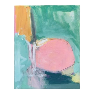 Pink Abstract Oil Painting For Sale