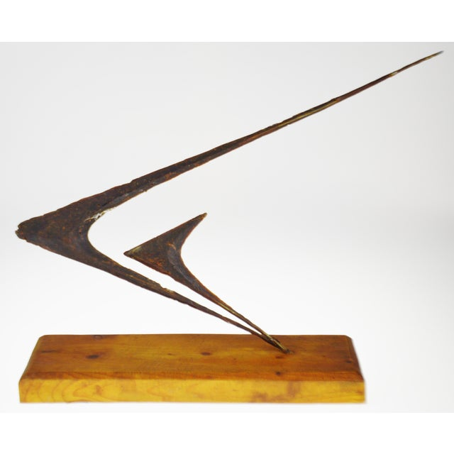 Abstract Vintage Brutalist Abstract Art Sculpture For Sale - Image 3 of 13
