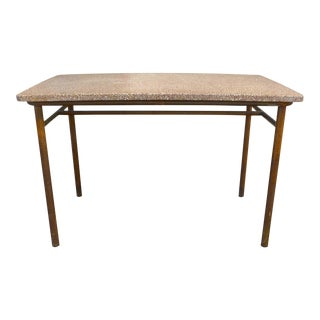 French Industrial Terrazzo and Steel Table For Sale