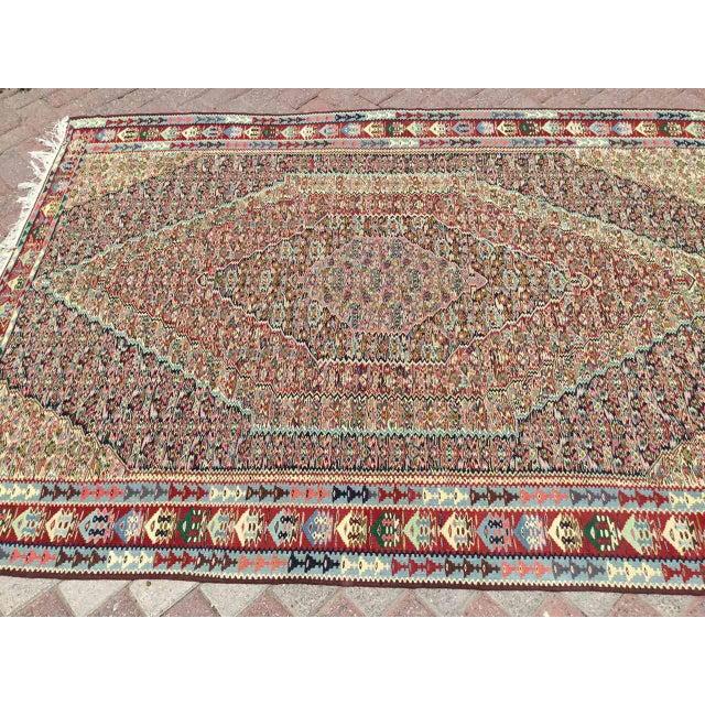 Islamic Vintage Turkish Kilim Rug For Sale - Image 3 of 10