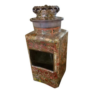 Antique Lavender Glass Tobacco Art Storage Jar For Sale