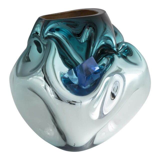 Unique petite crumpled sculptural vessel - Image 1 of 5
