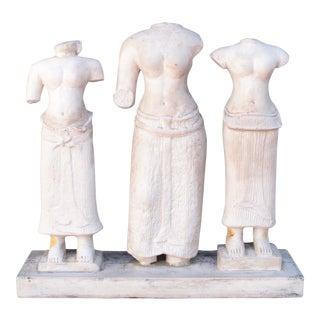 Vintage Attila's Original Reproduction of Artist Statues - Set of 3