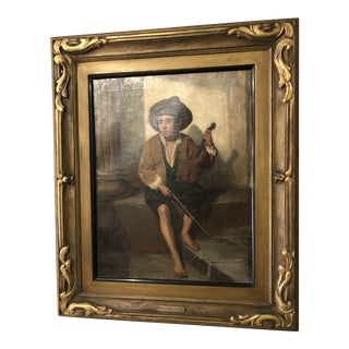 """The Young Musician"" Oil Painting by Paul Hagelstein For Sale"