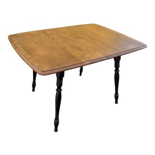 1960s Mid Century Maple Dining Table For Sale