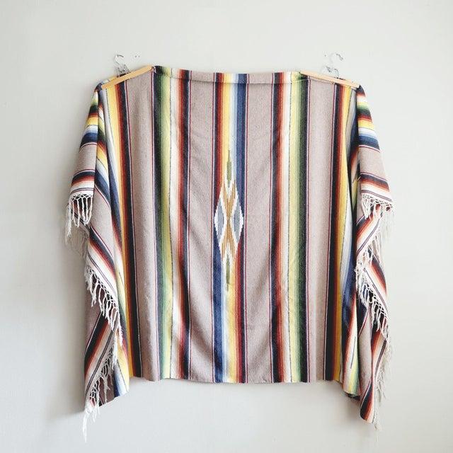Vintage Mexican Saltillo Blanket - Image 2 of 6