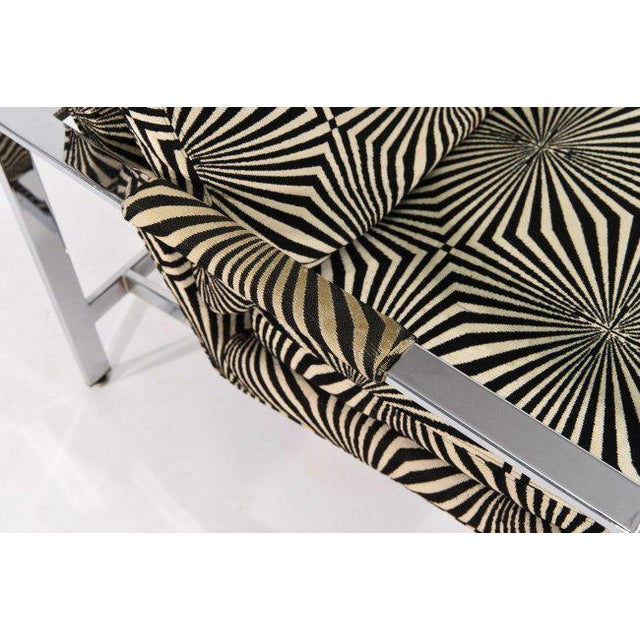 Black Milo Baughman for Thayer Coggin Lounge Chair with Verner Panton Fabric For Sale - Image 8 of 9