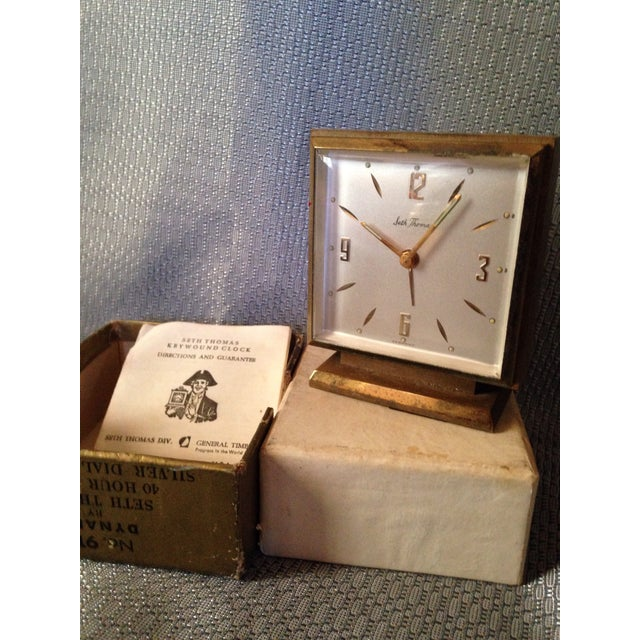 Seth Thomas Clock Company Seth Thomas Keywound Dynaire No. 915 Clock For Sale - Image 4 of 5