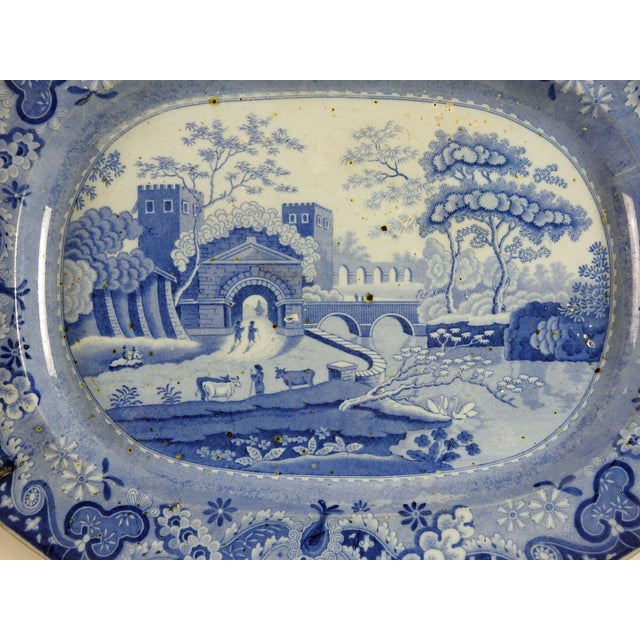 English Ironstone Transferware Platter - Image 3 of 4