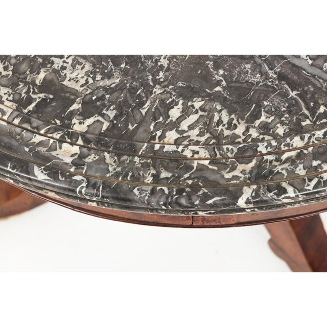 Brown Antique French Second Empire Round Pedestal Table For Sale - Image 8 of 10