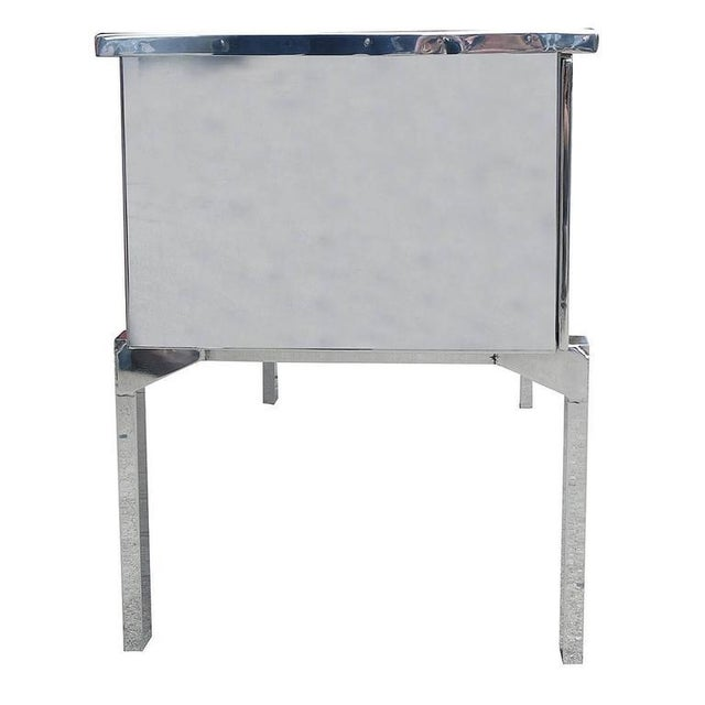 Polished Aluminium WWII Campaign Desk For Sale In Los Angeles - Image 6 of 10