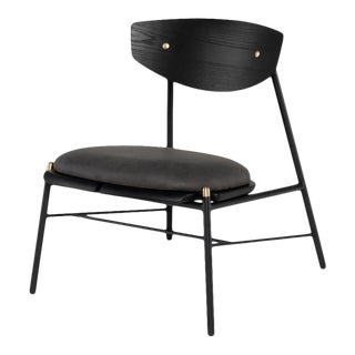 Kink Occasional Chair In Storm Black For Sale