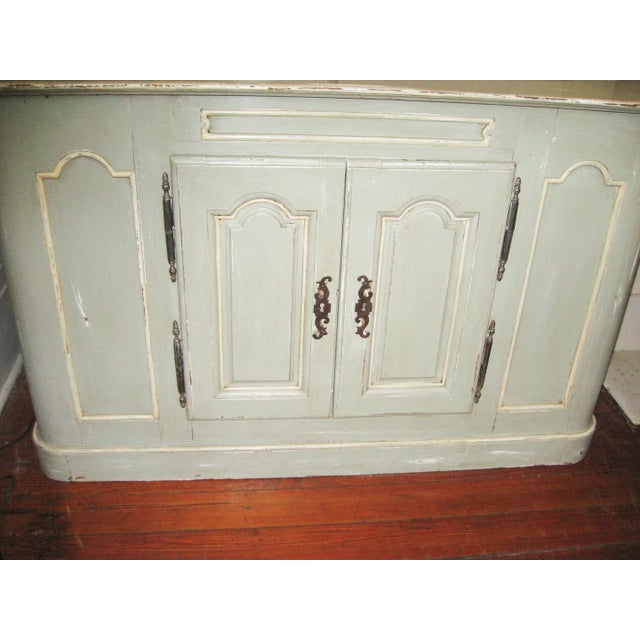 Cream 19th Century French Buffet a Deux Corps For Sale - Image 8 of 12