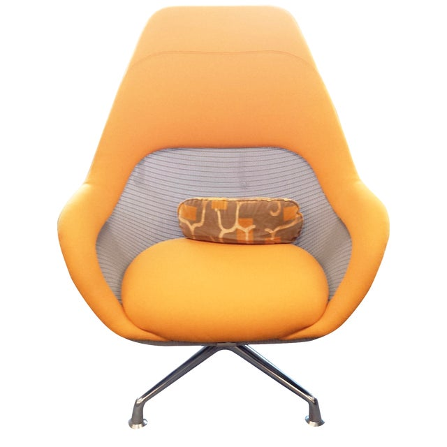 Coalesse Yellow High-Back Swivel Chair - Image 1 of 3