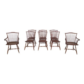 Howard Szmolko Bench Made Windsor Dining Room Chairs-Set of 8 For Sale