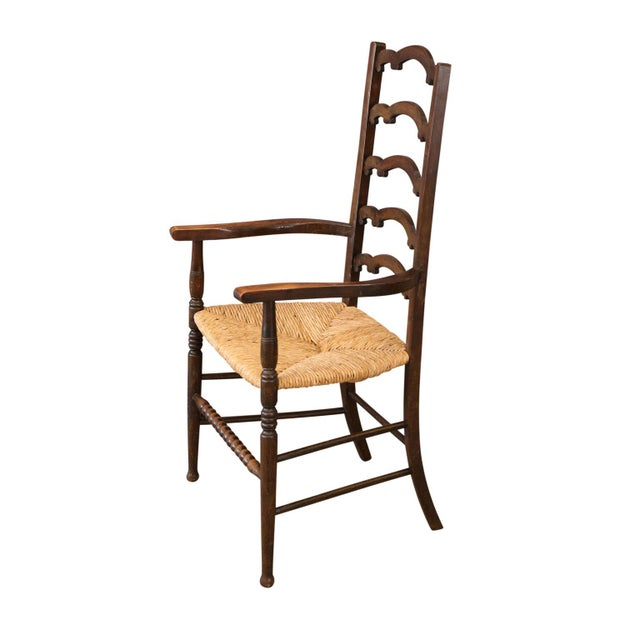 Early 20th Century Unique Ladder-Back Chairs For Sale - Image 5 of 7