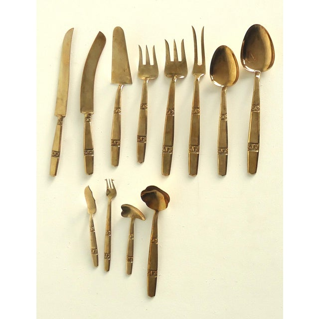 Thai Bronze Flatware - 70 Pieces For Sale - Image 4 of 6