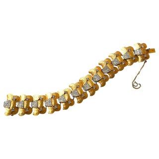 Joseph Mazer 1950s Golden Scale Bracelet For Sale