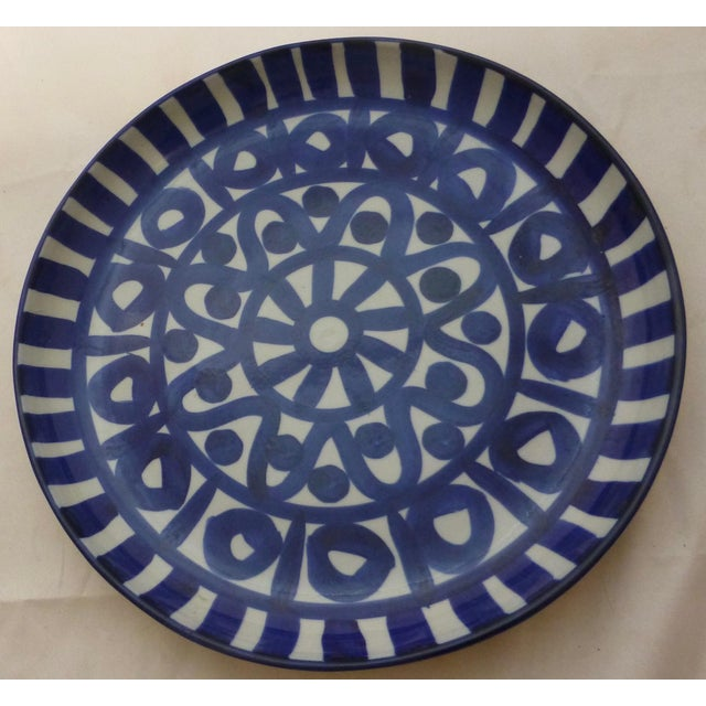 Vintage Blue & White Dansk Platter For Sale - Image 9 of 10