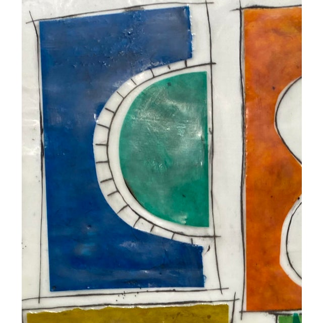 """2020s """"Based on a True Story"""" Encaustic Collage Painting by Gina Cochran For Sale - Image 5 of 7"""