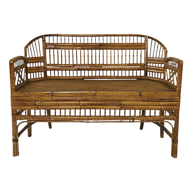 Brighton Pavillion Caned Settee For Sale