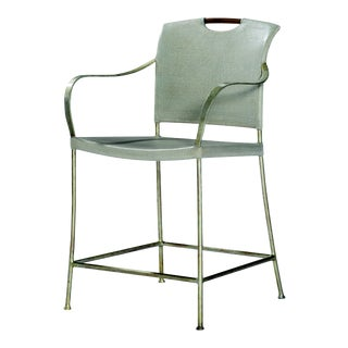 Century Furniture Canvas Counter Stool, Dove Grey For Sale
