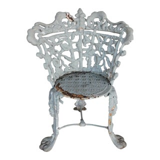 Antique Victorian Period Wrought Iron Chair For Sale