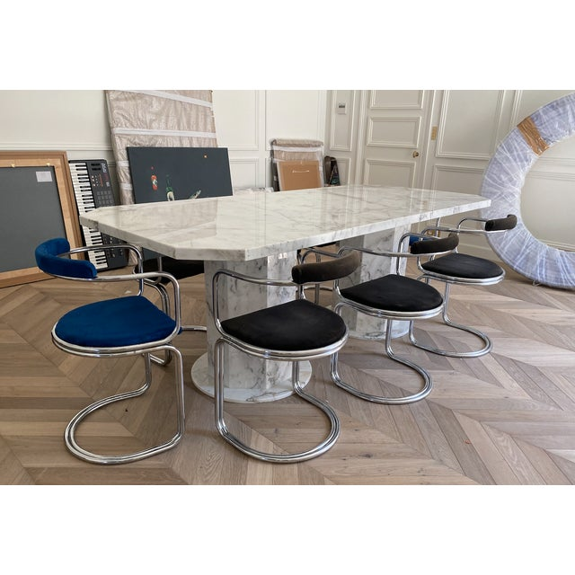 Arabescato Marble Dining Table For Sale - Image 6 of 8
